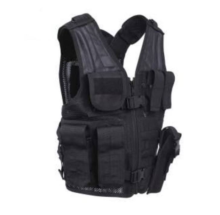 Kids-Army Cross Draw Vest Black