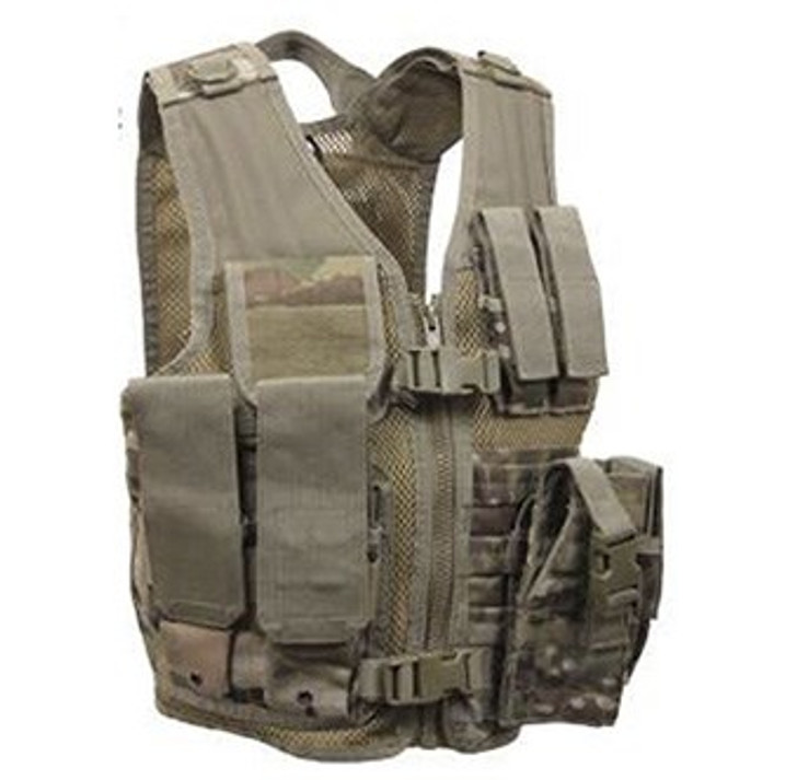 Kids-Army Cross Draw Vest MultiCam