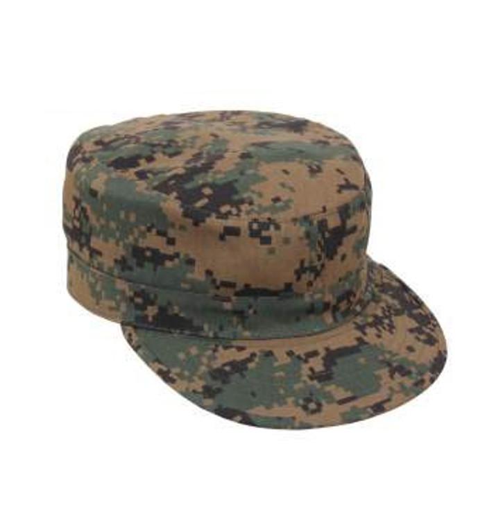 Kids Military Drill Cap - Woodland Digital