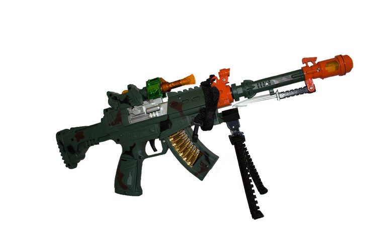 Futuristic Toy M16 Machine Gun