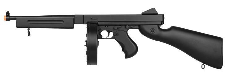 WELL D98 M1A1 WWII SUBMACHINE GUN AEG (BK)
