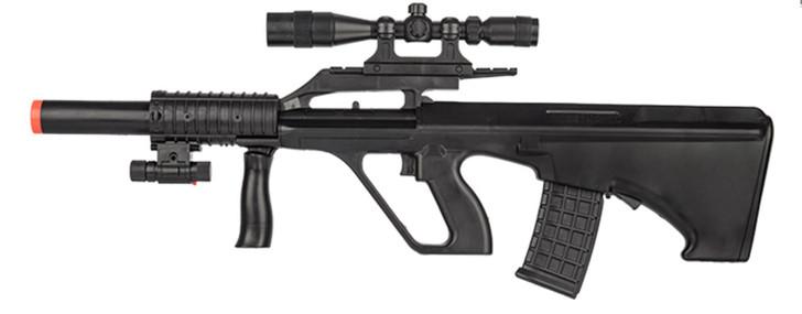 Steyr AUG Tactical Silenced Spring Airsoft Gun