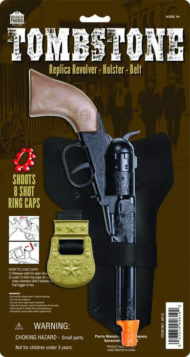 Tombstone 8 Shot Die Cast Revolver with Holster and Belt