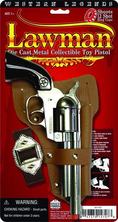 1936 Western Legends Lawman Die Cast Metal Cap Pistol