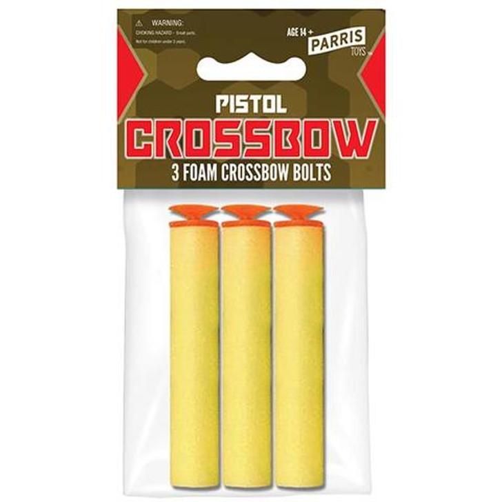 3 EACH PISTOL CROSSBOW BOLTS