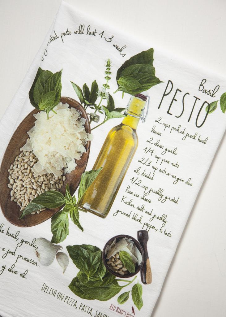 Pesto Recipe-Kitchen Towel