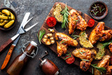 Grilled Chicken Wings with Mango Pineapple Salsa