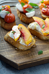 Grilled Peach Crostini