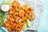 Herb Marinated Shrimp Skewers