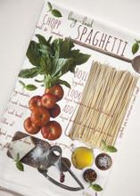 Spaghetti Recipe Kitchen Towel