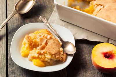 Peach Balsamic Cobbler