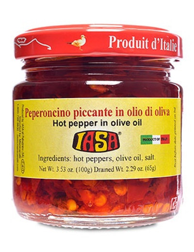 Hot Peppers in olive oil