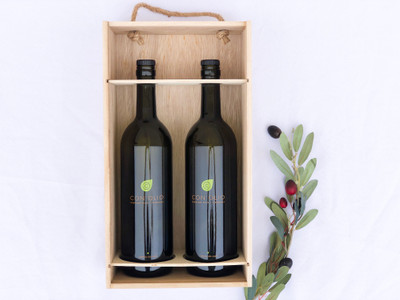 Gift Crate with Lid 750ml Tuscan/Traditional-SOLD OUT