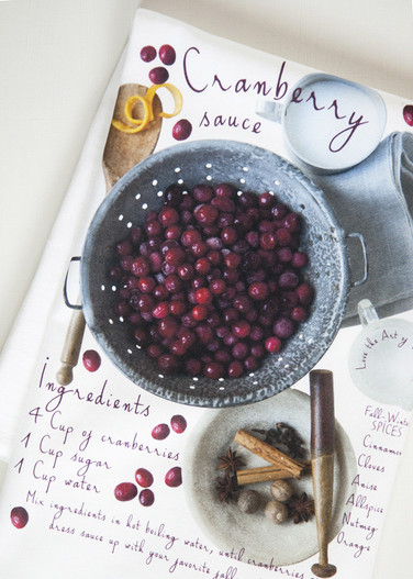 Cranberry Sauce Recipe-Kitchen Towel