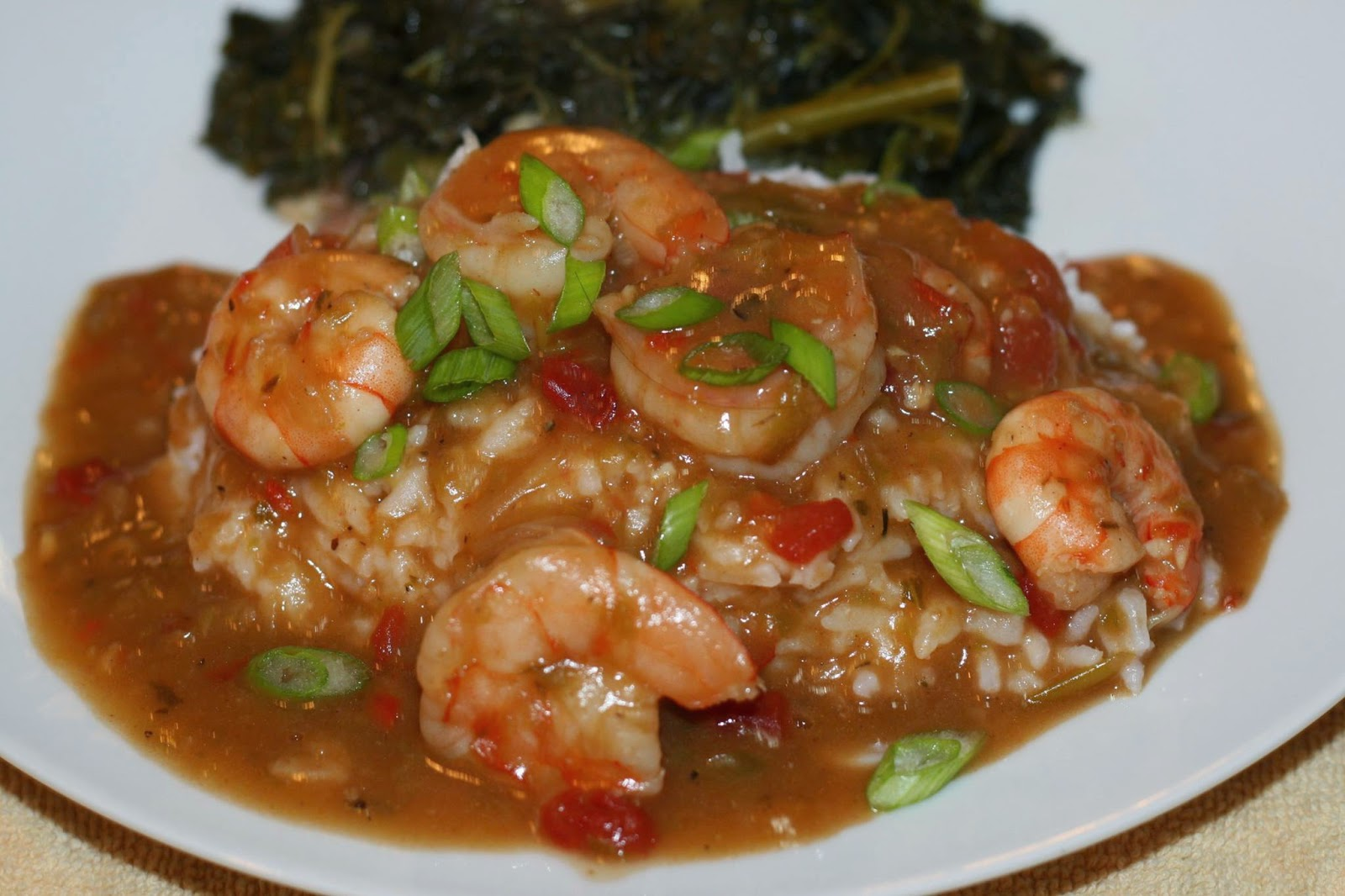 Shrimp Etouffee With Baklouti Olive Oil Roux