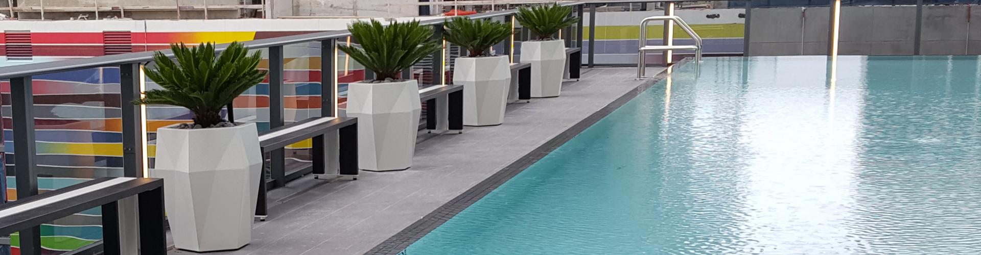 Modern indoor planters & outdoor planters.