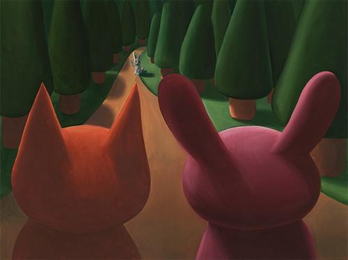 """White Rabbit"" Original Oil Painting"