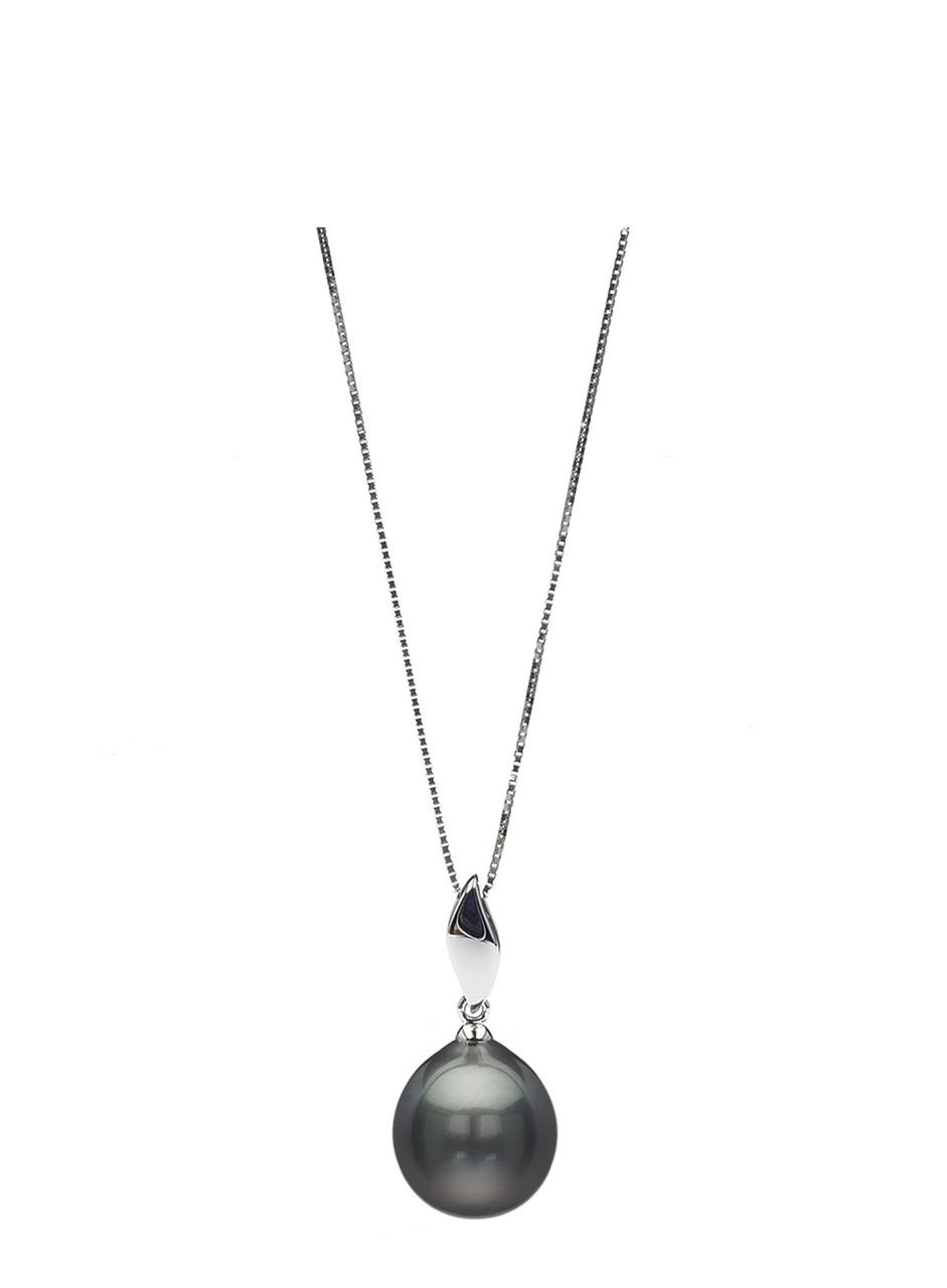 18K Tahitian Drop Cultured Pearl Pendant