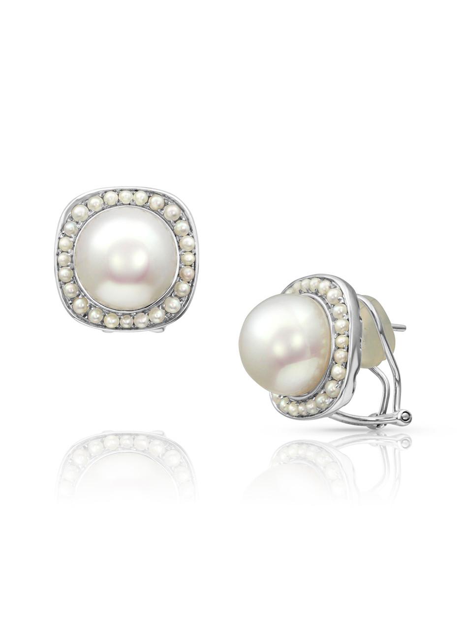 18K South Sea And Keshi Cultured Pearl Earrings