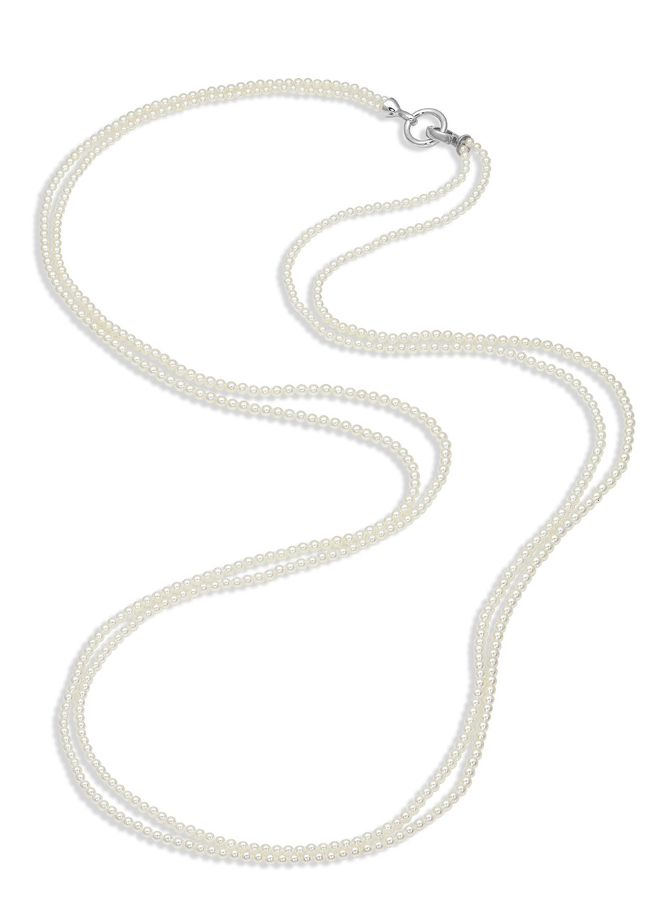 14KWG Baby Akoya Pearl Nested Necklace