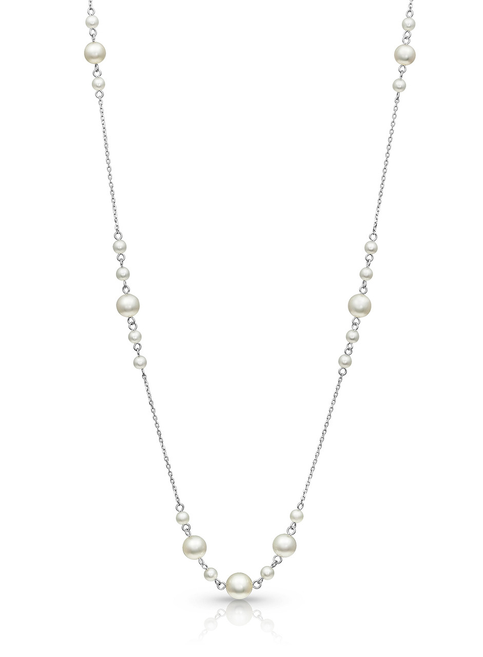 14KWG Akoya Pearl Pigtail Chain Necklace
