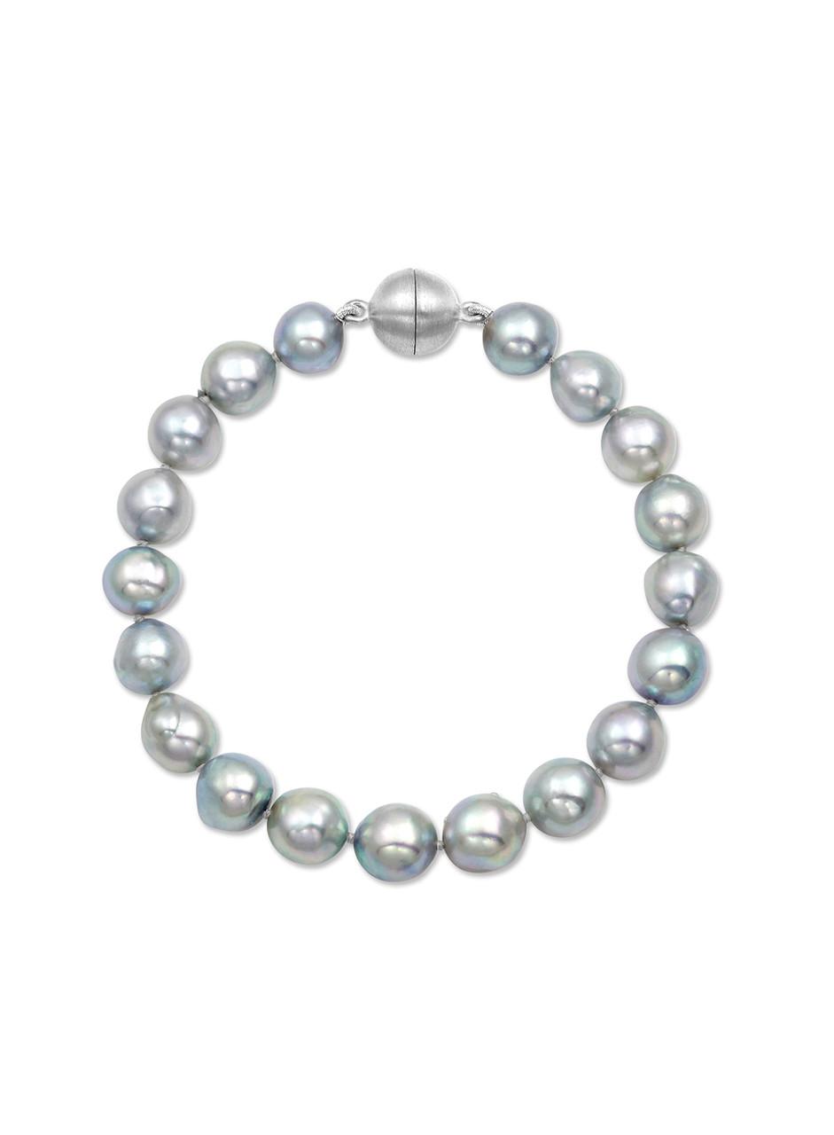 Natural Gray Akoya Baroque Pearl Bracelet