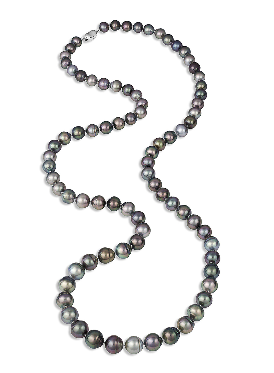 Tahitian Multicolor Pearl Long Necklace