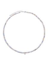 14K Multicolor Akoya Cultured Pearl Diamond Necklace