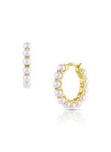 14KYG Baby Akoya Pearl Hoop Earrings