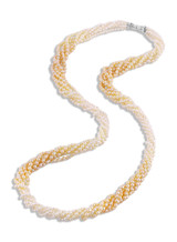 Color Graduated Golden Akoya Necklace