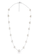 Baroque Akoya Cultured Pearl on Sterling Silver Chain Necklace