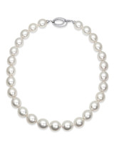 White South Sea Oval 14x16.1mm Pearl Necklace