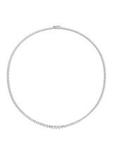White Gold 3 Prongs Tennis Diamond Necklace