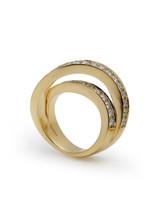 18KYG X.F. Diamond Ring
