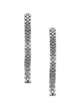 18KWG Bologna Thin Strip Earrings