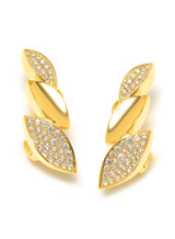 18KYG 1.24ct.-Diamond Q Collection Earrings
