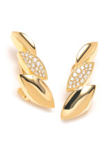 18KYG 0.54ct.-Diamond Q Collection Earrings