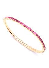 18KPG Sapphire-5.55ct. EZ Bracelet