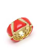 Coral Enamel EZ Glaze Ring