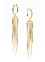 18K Yellow Gold Jingle Chandelier Earrings