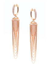 18K Rose Gold Jingle Chandelier Earrings