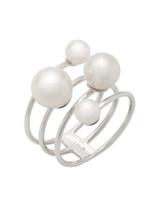 14K Cultured Pearl Multi-Row Ring