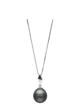 18K Tahitian Drop Cultured Pearl Pendant