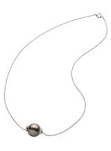 18K Tahitian South Sea Cultured Pearl Rondel Necklace