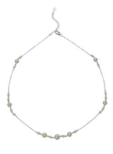 14K 3-6.5mm Akoya Cultured Pearl And Chain Necklace