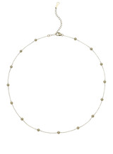 14KYG 3-3.5mm Akoya Cultured Pearl And Chain Necklace