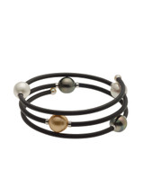 Multi-Row, Multi-Color Tahitian South Sea Cultured Pearl Bracelet