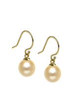 Basic 18KYG Golden South Sea Cultured Pearl Shepherd Hook Earrings
