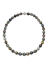Tahitian Multicolor Drop Circle Pearl Strand