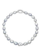 White South Sea Baroque Necklace